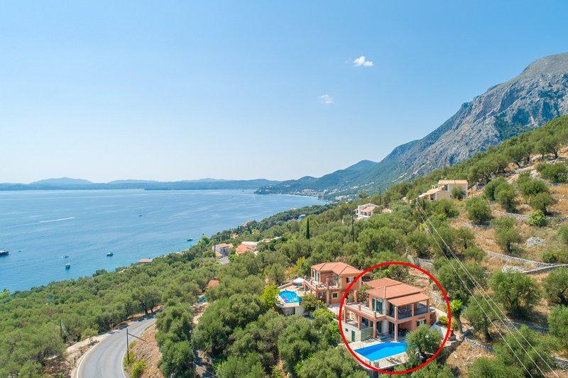 Luftaufnahme, die Standort von Vasillis zeigt