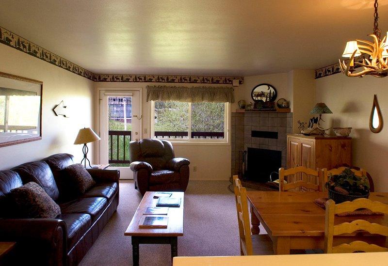 Vous allez adorer le salon confortable, avec votre terrasse privée juste à l'extérieur.