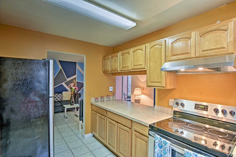 You'll love coming home from a Palm Bay adventure to prepare a delicious meal.