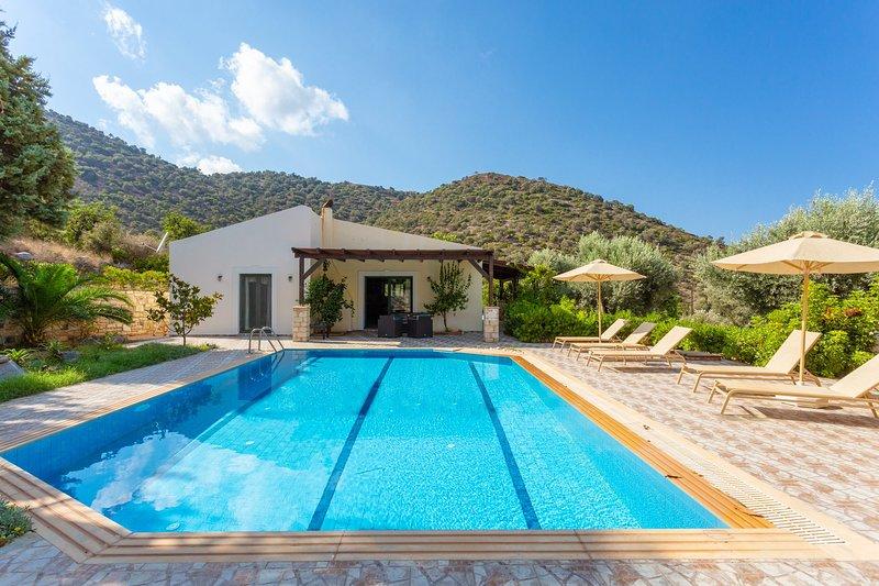 Villa Dimitrios: Large Private Pool, Sea Views, WiFi, Eco-Friendly, alquiler vacacional en Roumeli