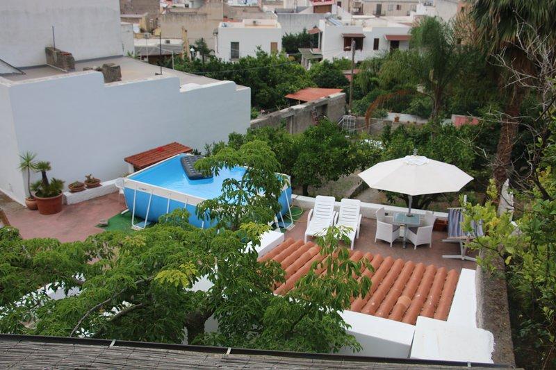 vista dal tetto dell'area solarium