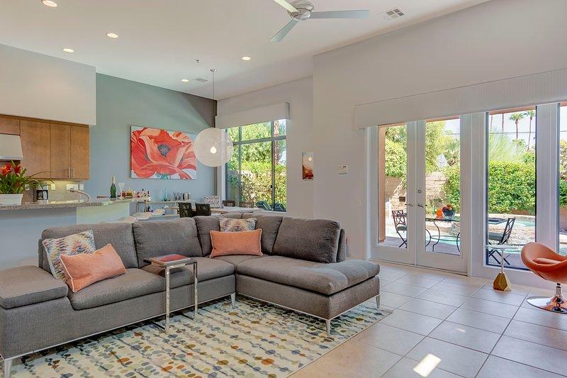 A spacious modern living area