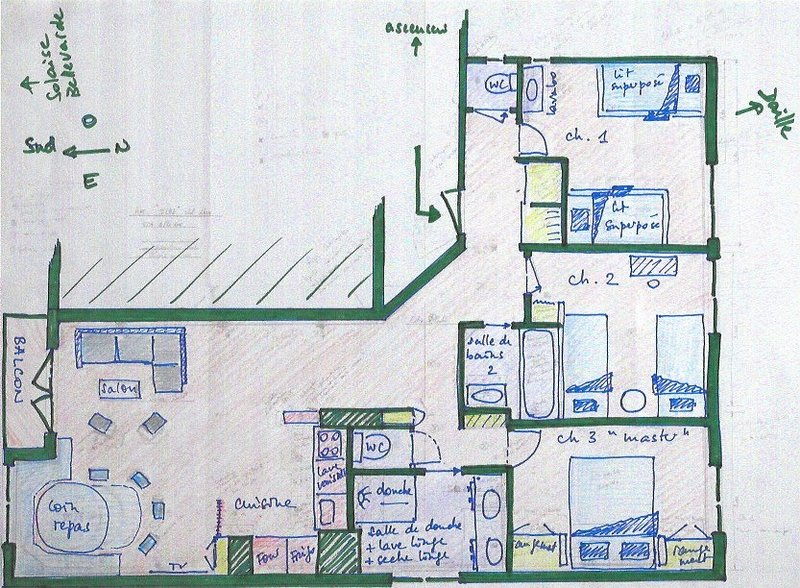 floor plan of the flat