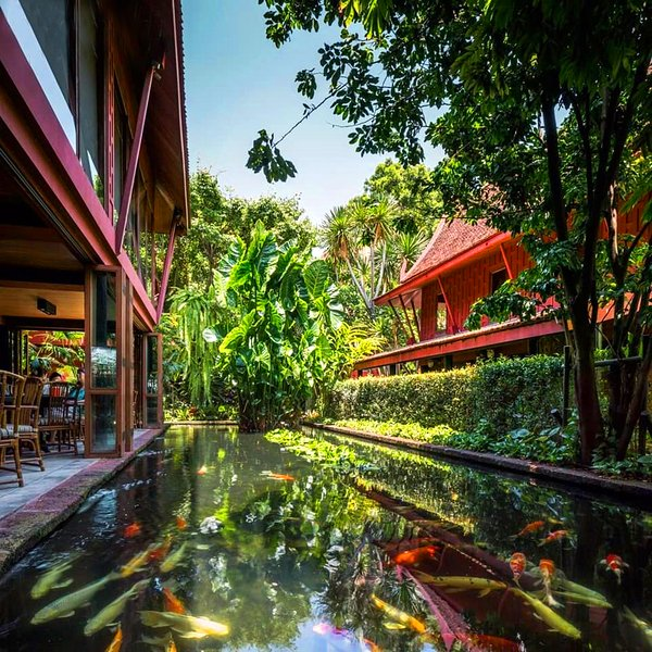 The Beautiful Jim Thompson House is just steps away from our accommodation.