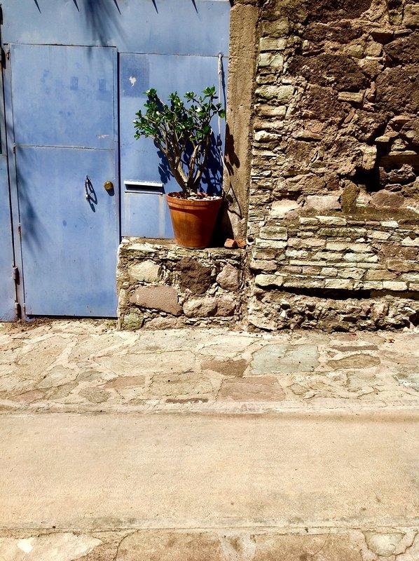 Vista exterior de portón