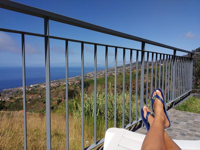 Relajarse en la gran terraza