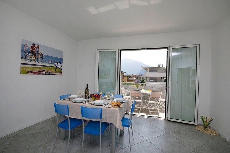 Il balcone per rilassarsi o cenare all'aperto
