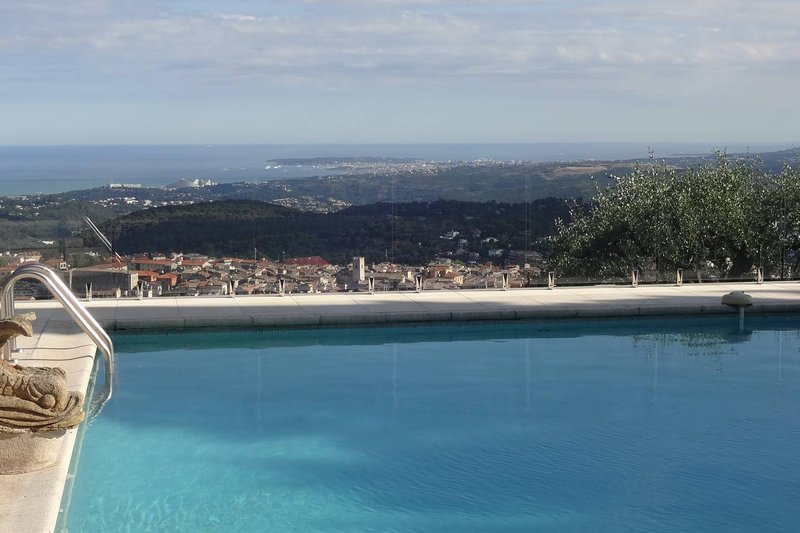 Relax and enjoy the pool and the views of the Cote D'azur and the Mediterranean.