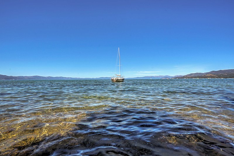 A short drive will lead you to Lake Tahoe!