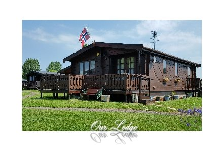 The Norwegian style lodge.