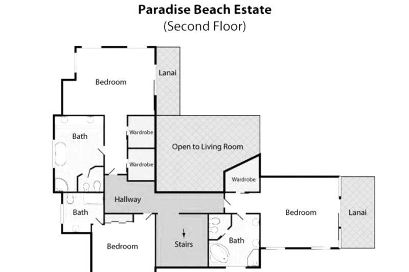 Paradise Beach Estate Second Floor