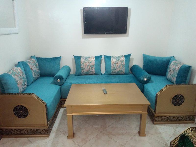 Appartement neuf confortable calme près de la mer et de la campagne, alquiler de vacaciones en Nouaceur