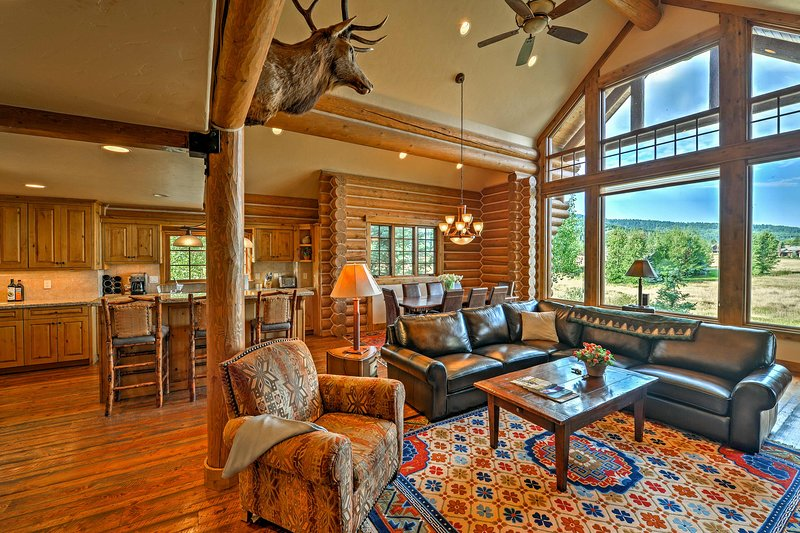 Explore the Teton Valley from this scenic vacation rental cabin in Victor!