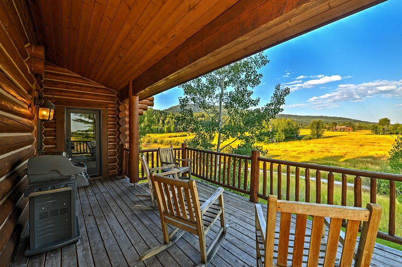 Sip your morning coffee on the rocking chairs and take in the mountain vistas.