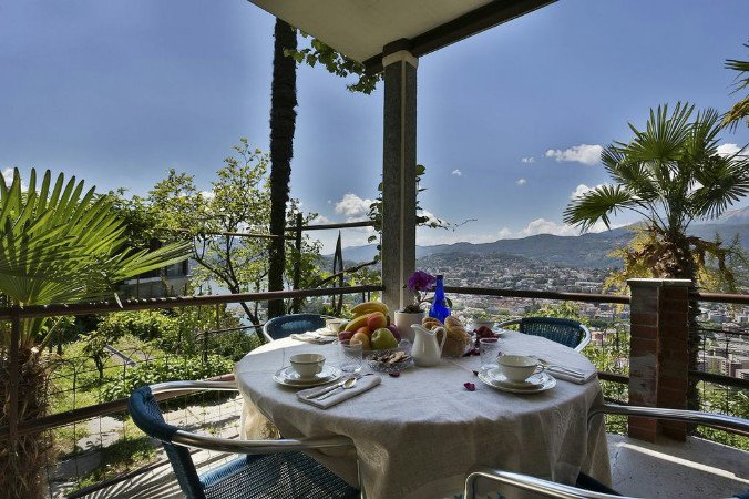 View on Lugano and the lake