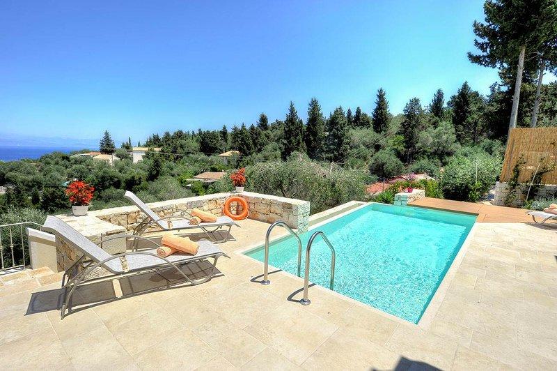 Apeiron II Villa - Sunny, Modern, Pool - walk to Gaios, holiday rental in Antipaxos