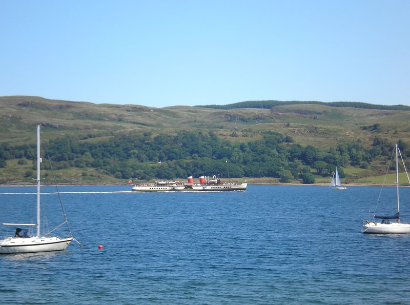 Weekly visit from Waverely Paddle Steamer, passing lounge window