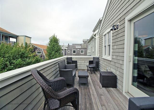 Another view of second floor deck