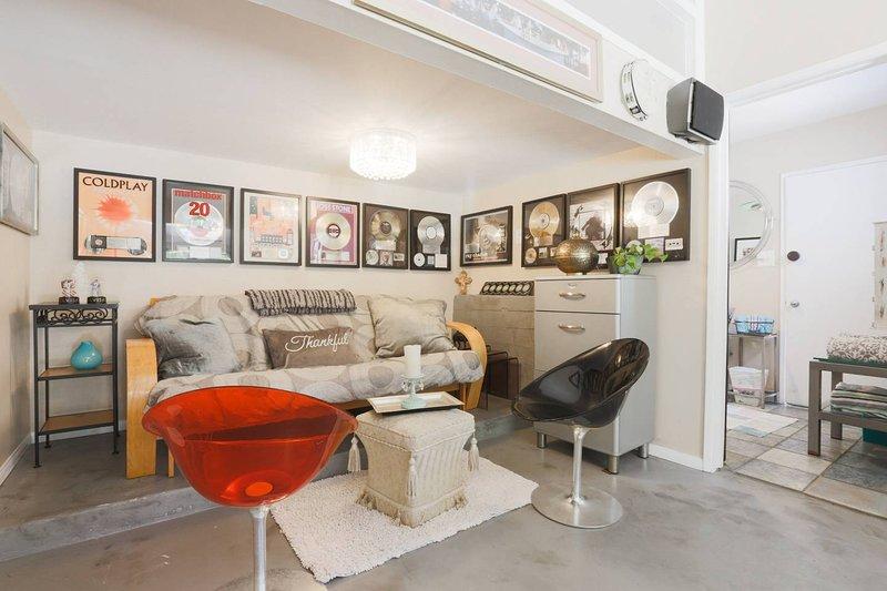 El rincón de la música con el futón