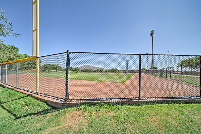 Head out to play catch or practice your swings on one of the baseball fields.