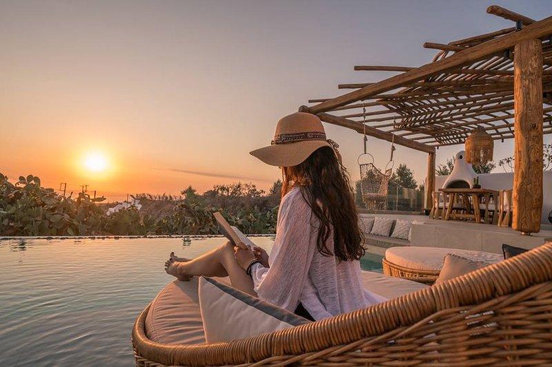 Spektakuläre Aussicht auf das Ägäische Meer von Ayama Hideaway Villa