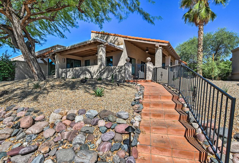 This home is minutes from hiking trails, golf courses, and more!