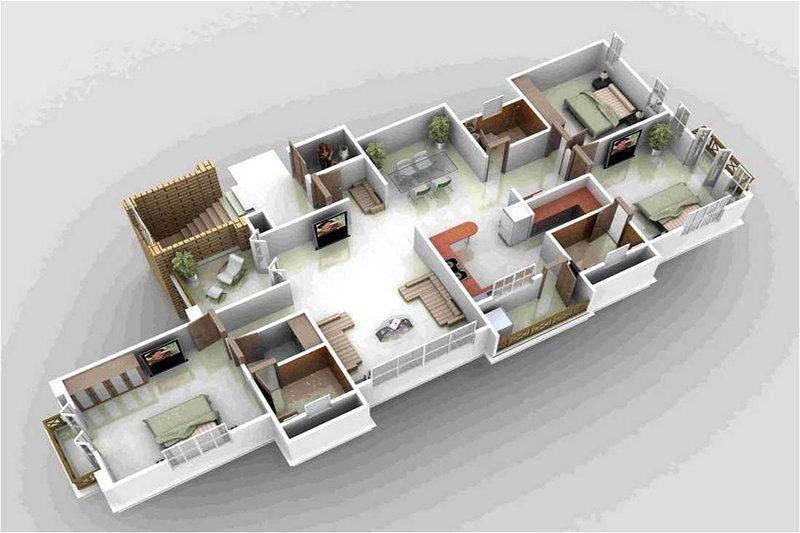 3D layout of our apartment