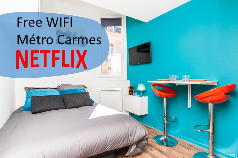⭐ Fantastic cosy studio ⭐ Metro Carmes ⭐, holiday rental in Auzeville-Tolosane