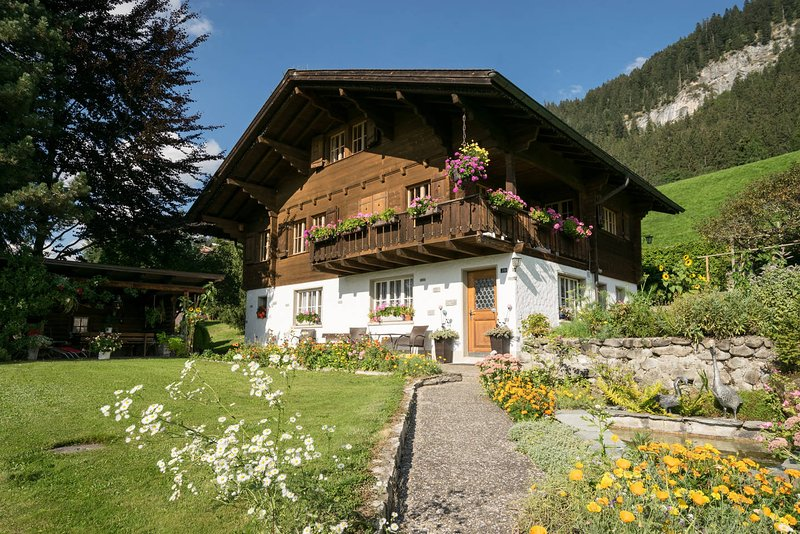 Gstaad Duplex Flat - Amazing Lake Chalet with pond, holiday rental in Canton of Bern