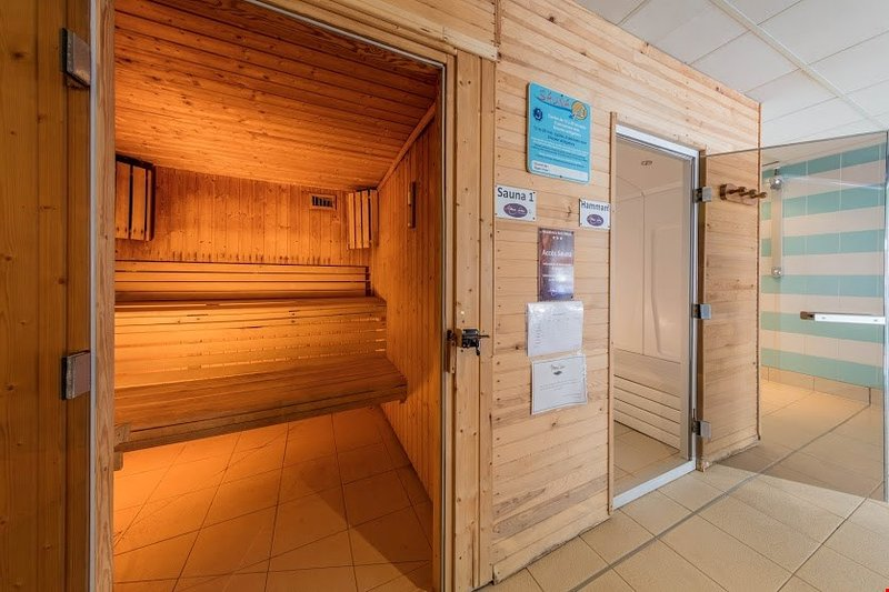 Steam your troubles away in the sauna.