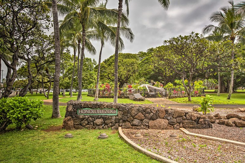 Be sure to stop by the Honolulu Zoo - an easy 1-block stroll from your condo!