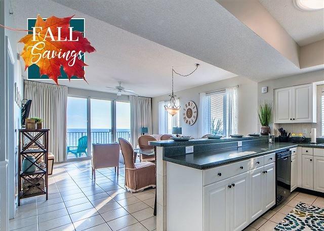 Majestic Sun 214B - Küche mit Blick auf den Golf