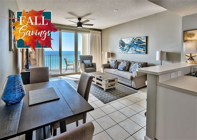 Majestic Sun 509B - Gulf Views From Living and Dining Areas