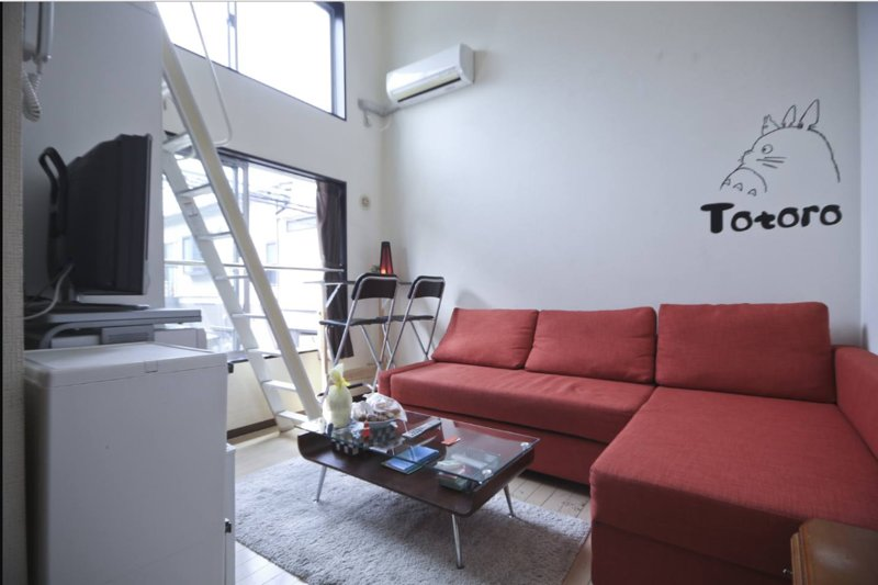Close to Shinjyuku Tokyo Small room with loft! Ideal for living with 1 to 2 ppl!, holiday rental in Ginza