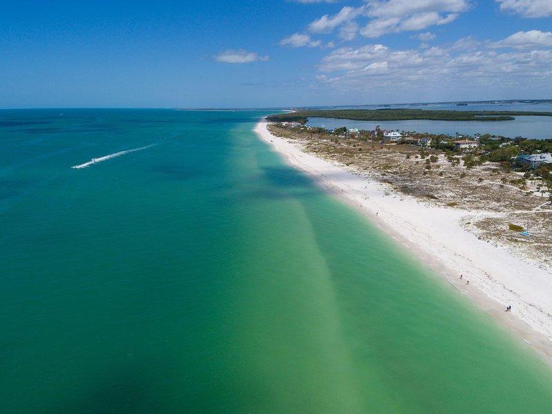Veduta aerea della spiaggia di Clearwater.