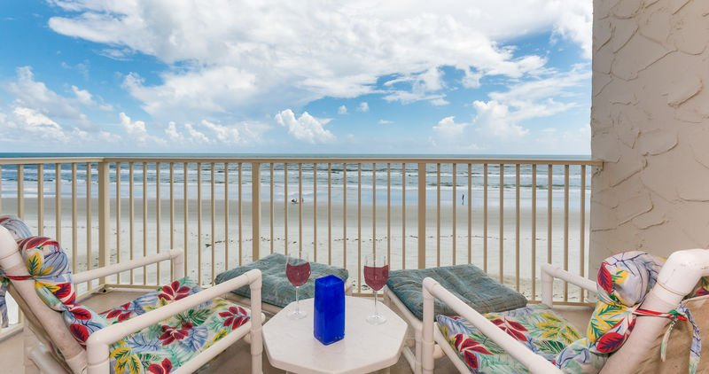 Take in the Florida sunshine from the private oceanfront balcony.