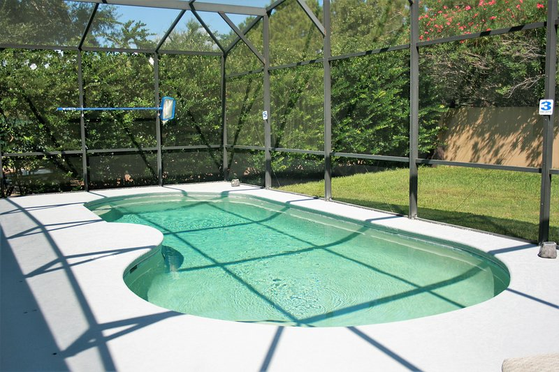 Pool Area with no neighbors behind you