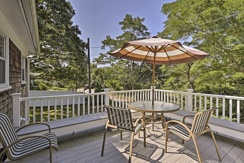 Blissful beach days await you at this idyllic Hyannis vacation rental house.