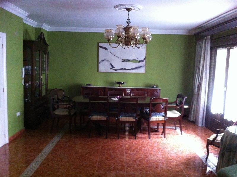 Salon, dining area