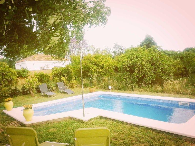 Casa con piscina privada y chimenea, holiday rental in Marinaleda
