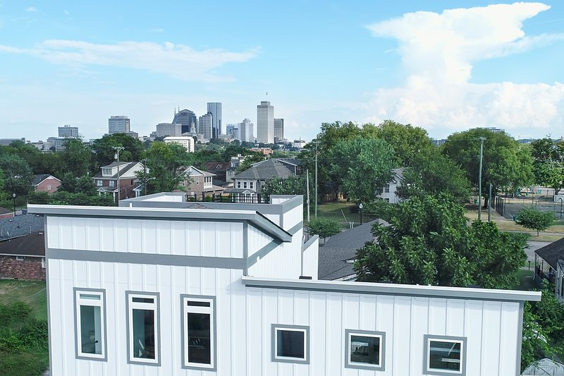 Downtown view & the house