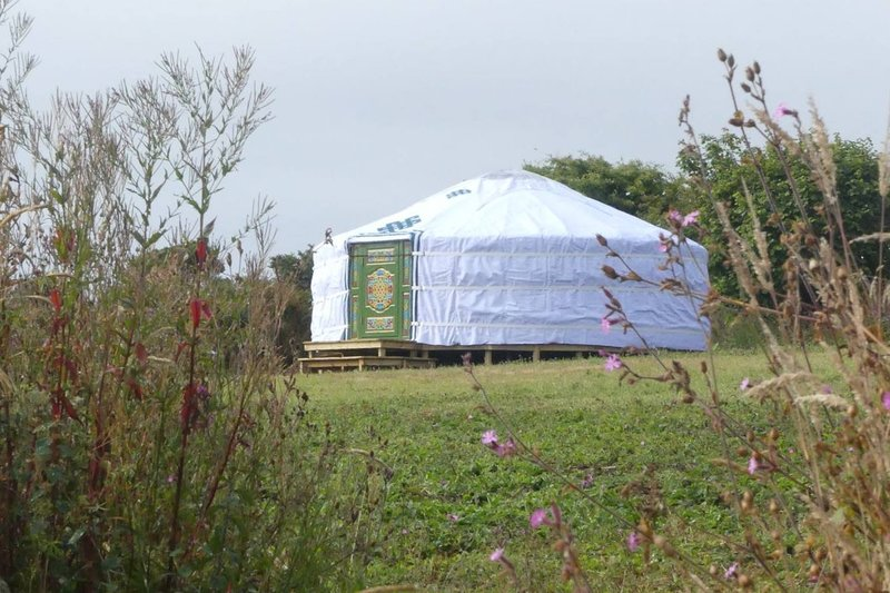 Farm Eco Glamping, 'Meadow Yurt', holiday rental in Wendron