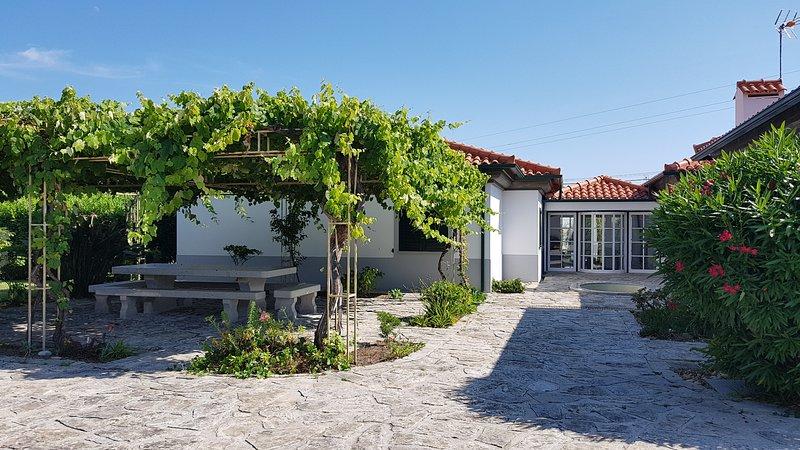 Grand jardin aires de loisirs situé à 700 mètres de la plage pour 10 personnes, location de vacances à Vila Praia de Ancora