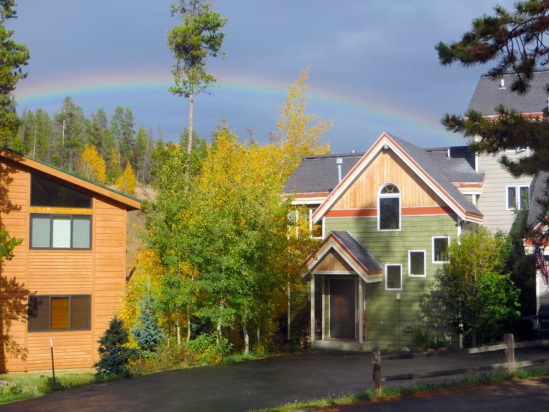 View of the home, rainbow not guaranteed during your stay!