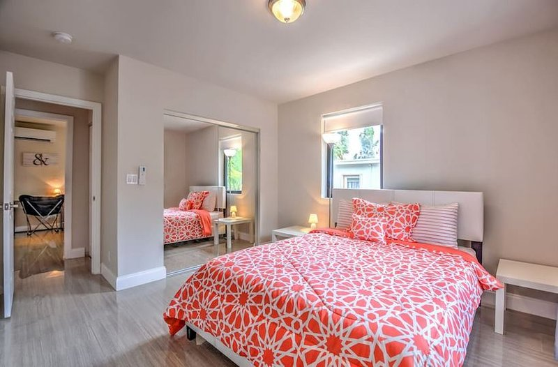 Get a good nights rest in our comfortable queen bed!