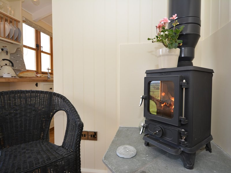 A warming wood burner for cosy evenings any time of the year