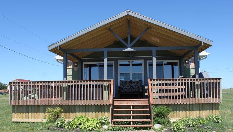 Una adorable casa de campo con acceso a la playa y puestas de sol en una zona tranquila y relajante
