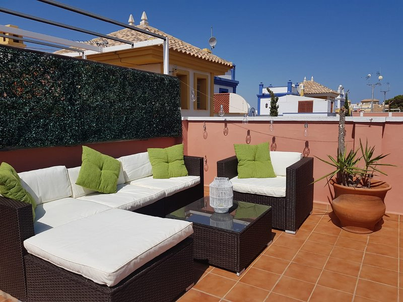 Unwind after a hard days sunbathing on the stylish rattan sofa set and enjoy a glass of wine (or 2!)