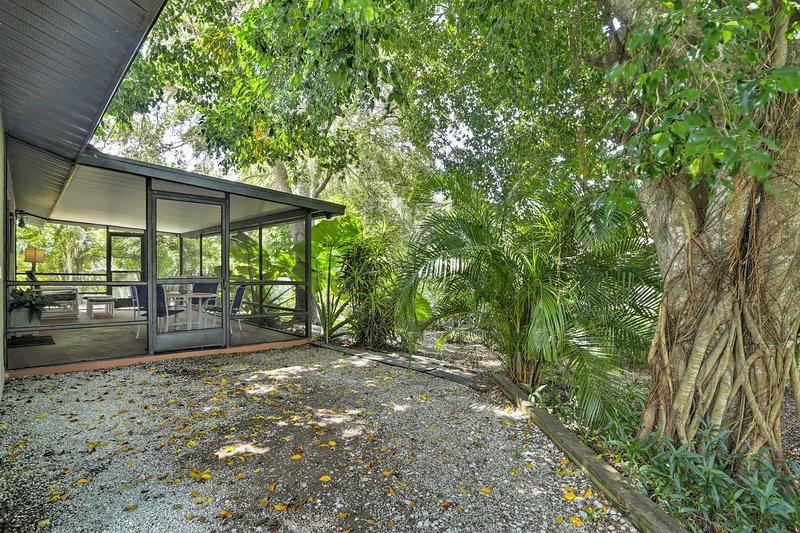Esta casa de férias em Veneza inclui um jardim paisagístico privado.