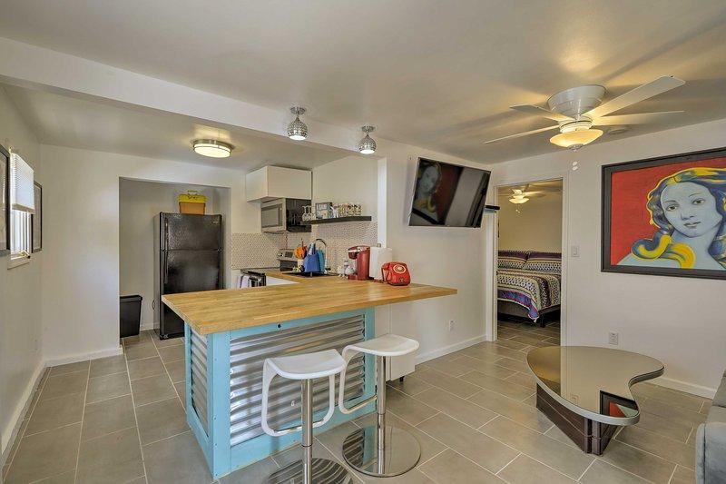 Vibrant decor elevates this vacation rental!